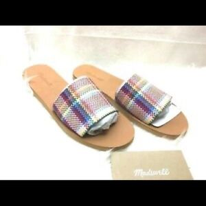 NWOT Madewell Multicolor Slide On Sandals